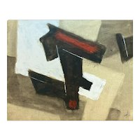 Charles Ragland Bunnell (American 1897-1968) Oil on Board Abstract Painting