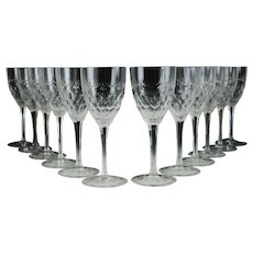 12pc Set William Yeoward Crystal Cecilia Cherry Wine Glasses