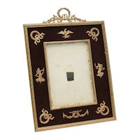 Stunning French 2nd Empire Gilt Bronze and Velvet Backing Photo Frame