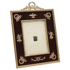 Stunning French 2nd Empire Gilt Bronze and Velvet Backing Photo Frame