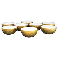 8 Rosenthal Studio Line Gold Magic Flute Sarastro Fruit Bowls by Bjorn Wiinblad