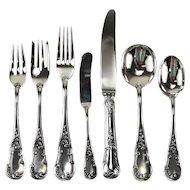 7 Piece Sterling Silver Flatware Service for 12 in Quirinale by Buccellati