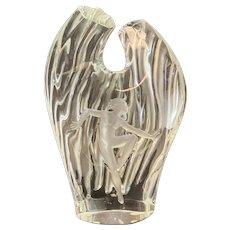 Lalique France Crystal Glass Dora Vase, Figural Nude Dancer, Ltd Ed of 99