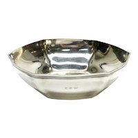 Tiffany & Co. Sterling Silver Hexagonal Lobed Bowl #18165, John C Moore II