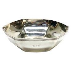 Tiffany & Co. Sterling Silver Hexagonal Lobed Bowl #18165, John C Moore II