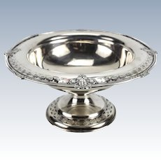 Reed & Barton Sterling Silver Centerpiece Compote Bowl #302A, Grecian Pattern