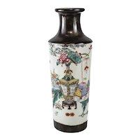 Chinese Porcelain Vase, circa 1940. Xiangtuiping Shaped, Qionlong Mark