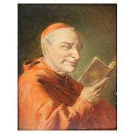 Robert Stutterheim (Dutch 1878-1961) Oil Painting of the Cardinal,  Signed