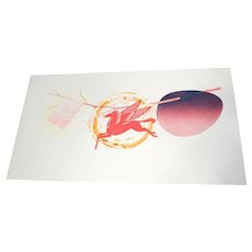 James Rosenquist Colored Etching, Spring Cheer, 1st State, Ltd Ed of 78, 1978