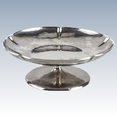 The Kalo Shop Sterling Silver Modernist Hand Wrought Compote, circa 1940