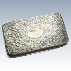 Matthew Linwood George III Birmingham Sterling Silver Gilt Snuff Box,1811