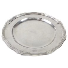 Antique Tiffany & Co. Makers Sterling Silver Round Serving Tray #18060 c1900
