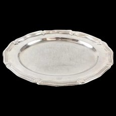 Antique Tiffany & Co. Makers Sterling Silver Oval Serving Tray #18049 c1900