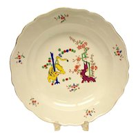 Meissen Hand Painted Scallop Rimmed Charger in Kakiemon Tree of Life, 19th Century