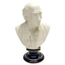 Manufacture de Sevres Style Bisque Porcelain Bust Statue of a Gentleman, 1923