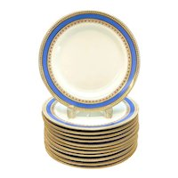 12 Royal Worcester for Tiffany & Co. Porcelain 8.75 inch Plates, 1873