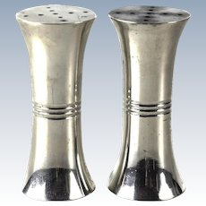Porter Blanchard Sterling Silver Modernist Salt & Pepper Shakers, circa 1940