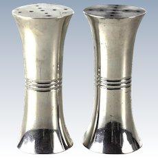 Porter Blanchard Sterling Silver Modernist Salt & Pepper Shakers, circa 1940