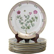 8 Royal Copenhagen Flora Danica Round Platters #376 or 20/3523