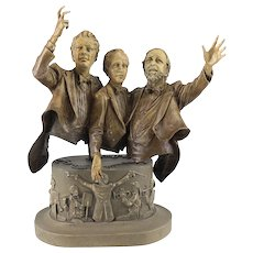 Arkin, Elliot (American, 1960-) Bronze sculpture The Three Tenors, Limited Edition & Signed