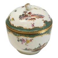 Furstenberg Hand Painted Porcelain Round Lidded Box, circa 1755