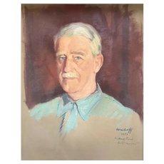 Mikhail Werboff (Ukrainian 1896-1996) Oil on Canvas Portrait of a Gentleman