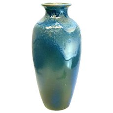 Rookwood LX Ceramic Pottery Blue Vase, Abstract Seafoam Waves #29848