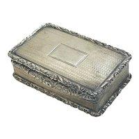 John Bettridge Birmingham George IV Sterling Silver Trinket Pill Box., 1826