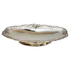 Asprey & Co Ltd Sterling Silver Oval Pierced Footed Centerpiece Bowl, 1937