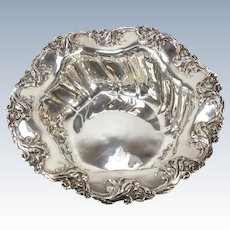 Mauser Mfg Co Sterling Silver Serving Bowl #805B, circa 1900, Scalloped Rimmed