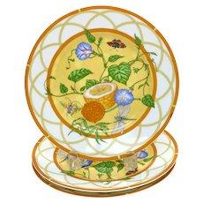 3 Hermes Paris Porcelain 9 inch Dessert Plates in La Siesta