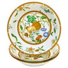 3 Hermes Paris Porcelain Soup or Cereal Bowls in La Siesta