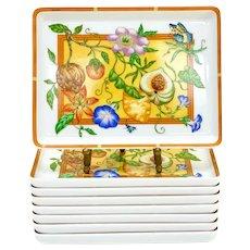 8 Hermes Paris Porcelain Rectangular Sushi Trays in La Siesta