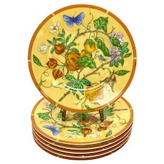 6 Hermes Paris Porcelain Bread and Butter Plates in La Siesta