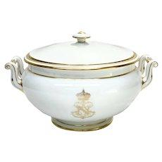Manufacture de Sevres France Porcelain Napoleon Lidded Tureen, 1856