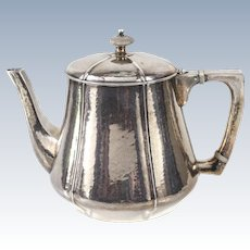 The Kalo Shop Arts & Crafts Sterling Silver Hand Hammered Teapot #45L