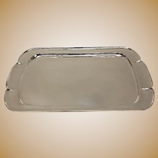 The Kalo Shop Sterling Silver Massic Tray, c1930. Arts & Crafts, 152 Troy Ounces