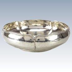 The Kalo Shop Sterling Silver Centerpiece Bowl Hand Wrought #5811, circa 1940