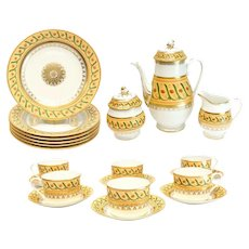 Tiffany & Co. France Private Stock Le Tallec Tea & Dessert for 6 in Directoire
