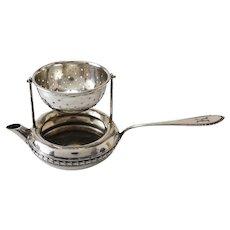 Stunning Gebruder Koberlin German 800 Silver Tea Strainer & Catcher, c. 1830
