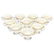 Tiffany & Co. Sterling Silver & Lenox Porcelain Bouillon Bowls #18673A