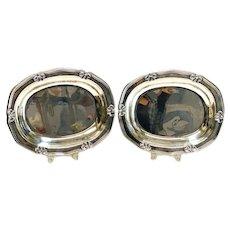 Pradella Ilario for Buccellati Italian Sterling Silver Oval Dishes. Scallop Rim