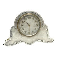 White & Hawkins Birmingham Sterling Silver Table Clock, 1924