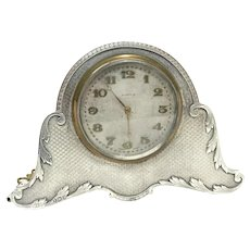 White & Hawkins Birmingham Sterling Silver Table Clock, 1924