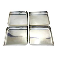 Bvlgari 950 Sterling Silver 4 Piece Sectional Serving Trays or Dishes, 1973