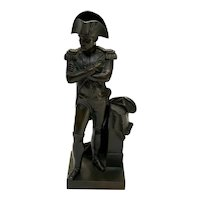 Continental Patinated Bronze Napoleon Bonaparte Miniature Sculpture, circa 1900