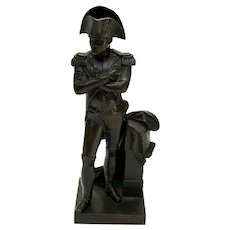 Continental Patinated Bronze Napoleon Bonaparte Miniature Sculpture, circa 1900
