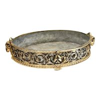 Impressive Christofle Gilt Silver Plate Centerpiece Planter or Jardinere, 19th C