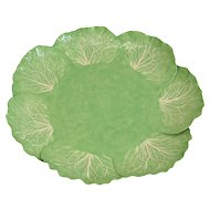 Dodie Thayer Lettuce Leaf Ware Porcelain Large Serving Tray, Hand Crafted Earthenware