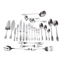 Christofle Cardeilhac French 950 Silver 9pc Service Flatware for 12 in Anjou
